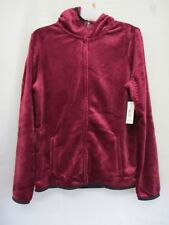 NEW No Boundaries Juniors' Super Soft Fuzzy Hooded Fleece Jacket Size M (7-9)
