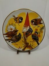 Gnome Spring Sharing Fairmont Rien Poortvliet Hand Painted Signed Plate #8/1981