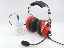 Pilot Aviation GA Headset (Red)with Mp3 input(Dual Plug) *Made In Korea*