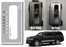 Replacement Floor Shifter Matte Silver Sticker For 2007-2014 Lincoln Navigator