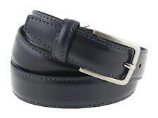 Cintura uomo in pelle classica elegante blu 130cm (taglia pantalone 54/56 EU)
