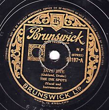 "Classic 1940 THE INK SPOTS 78 "" JAVA JIVE / DO I WORRY ""  UK Brunswick 03197 EX"