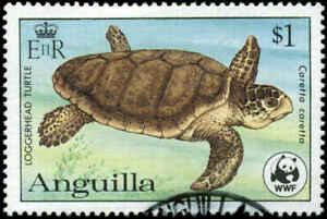Anguilla Scott #540 Used