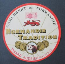 Etiquette fromage CAMEMBERT NORMANDIE TRADITION french cheese label 26