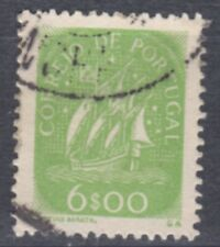 Portugal-1948/9- Caravel- 6$00 - Yellow Green- Y&T 714 - Mundifil 703