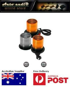 Britax BF180 Series 700 Lumen LED Beacon BF180-00 Flange Base Amber Lens