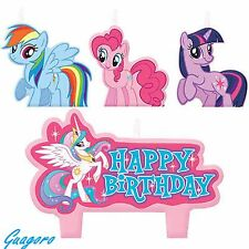 My Little Pony Birthday Candle Set - Cake Toppers Decorations 4pc Party Supplies