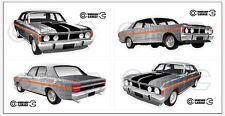 New! Collectable FORD FALCON XY GT HO 351 -  STICKER PACK Quicksilver