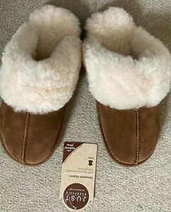 Sheepskin Slippers - JUST SHEEPSKIN DUCHESS MULES - BRAND NEW WITH TAG -Size 5/6