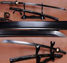 """41""""hIgh quality japanese samurai katana sword black folded steel full tang blade"""