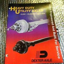 1998 Dexter Heavy Duty Utility Axles Parts Catalog 9000 To 15000