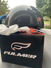 Fulmer 301 Tac DOT Carbon Fiber Half Helmet Matte Black Large