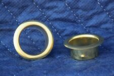 Two (2) Brass Candle Cup Protector - Good for Taper Candles 29/32""