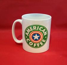 Marvel Avengers Capitán América Starbucks inspirado Taza De Café 10 Oz