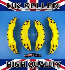 UNIVERSAL BRAKE CALIPER COVERS SET KIT FRONT & REAR YELLOW ABS 4PCS - S LINE