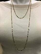 Alfani Women's Double Strand Necklace Gold  Casual new with out tag