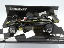 Minichamps 1:43 Nigel Mansell Lotus Ford 91 F1 1982 new resin with JPS decals