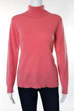 Neiman Marcus Pink Cashmere Turtleneck Sweater Size Large