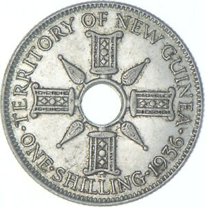 Better Date - 1936 New Guinea 1 Shilling - SILVER *683