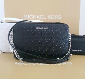 Michael kors women cross body bag MK BLACK JET SET ITEM LG EW  RRP £275