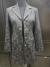 Christine Alexander Black Button Up Long Jacket Blazer with Bling Sz M NWOT