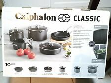 Gently Used Calphalon Classic 10 Piece Nonstick Set with Box. Warranty valid.