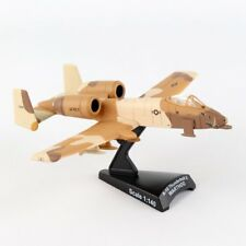 Postage Stamp A-10 Warthog Peanut Scheme Usaf 1:140 Scale Model Plane, Brown