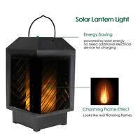 96 LED Solar Safe Flame Flickering Lantern Light Outdoor Garden Deck Torch Lamp