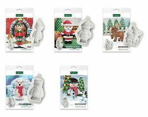 Katy Sue Christmas Mould Reindeer Elf Santa Snowman  Polar Bear
