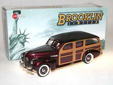 Brooklin BML 10, 1940 Buick Super Station Wagon, Woodie, maroon metallic, 1/43