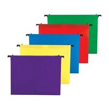 Staples Poly Expanding Hanging File Folders Letter Size Assorted 5/PK 706811