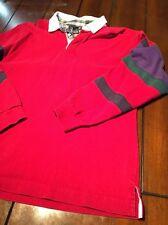 Vintage 90s Lands End Colorblock Rugby Shirt Mens Medium 38-40