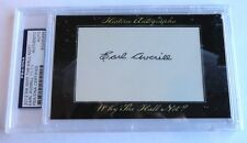 Earl Averill 2012 Historic Autographs Why the Hall Not? PSA/DNA Indians 11/11