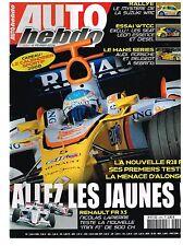 A27- Auto Hebdo N°1634 Renault la nouvelle R28 F1 premiers Tests