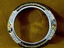 Bridal Crystal Bracelet Bangle Peacock Design Large India Fashion Jewelry