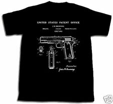 COLT 1911 PISTOL PATENT SHIRT L TShirt gun 45 cal Large Browning automatic