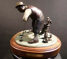 "Anton Arkhipov ""Green"" bronze sculpture golfer Hand Signed Make an offer!!!"