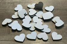 50 Streudeko Holz Herz Tischdeko Hochzeit Dekoherzen Streuteile weiß gefärbt