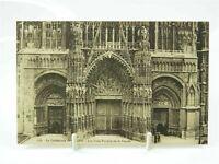 Antique printed postcard Rouen Cathedral Les Trois Portails de la Façade