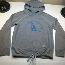 '47 FORTY SEVEN LA LOS ANGELES DODGERS MLB BASEBALL HOODIE SWEATSHIRT Womens L