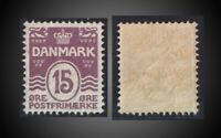 1905 DENMARK  15 Øre LILAC MINT NEVER HINGED SCT. 63 MI.46A