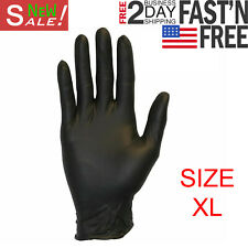 Box of 100 Disposable Nitrile Rubber Gloves Slip Resistant Powder Free Size XL
