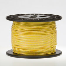 """18 AWG Gauge Solid Hook Up Wire Yellow 250 ft 0.0403"""" UL1007 300 Volts"""
