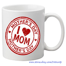 Personalized Mother's Day Coffee Mug Gift Ceramic Love MOM 11 oz. NEW!!