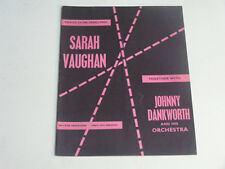 SARAH VAUGHAN & JOHNNY DANKWORTH    1960 UK Sovenir Programme