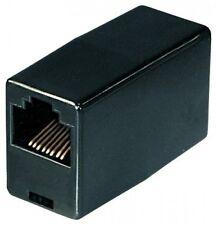 transmedia rj45 utp pachkabel verbinder kupplung 8p8c (8/8) 1:1 adapter schwarz