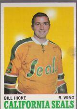 1970-71 TOPPS HOCKEY BILL HICKE #76 GOLDEN SEALS VGEX *58729