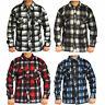 Mens Thermal Brushed Fleece Lumberjack Shirt Check Casual Winter Warm Work Top