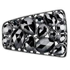 Shoellery Unisex-adult Shoe Clip Black Stones Shoe Decoration Charms Black One