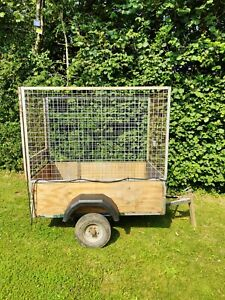 Unbraked Heavy high sided Trailer